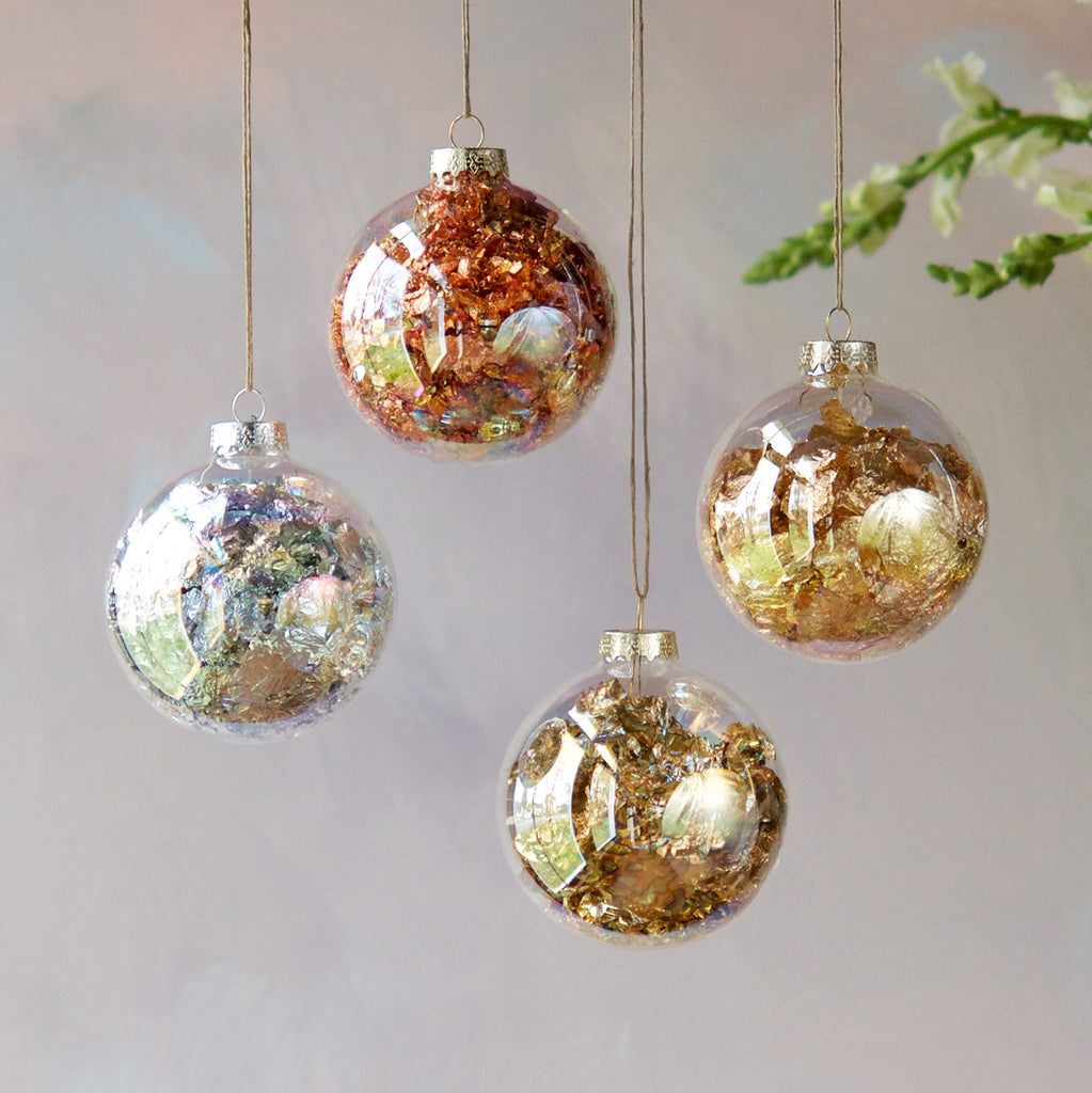 Foil Filled Ornament (4 Assortment)