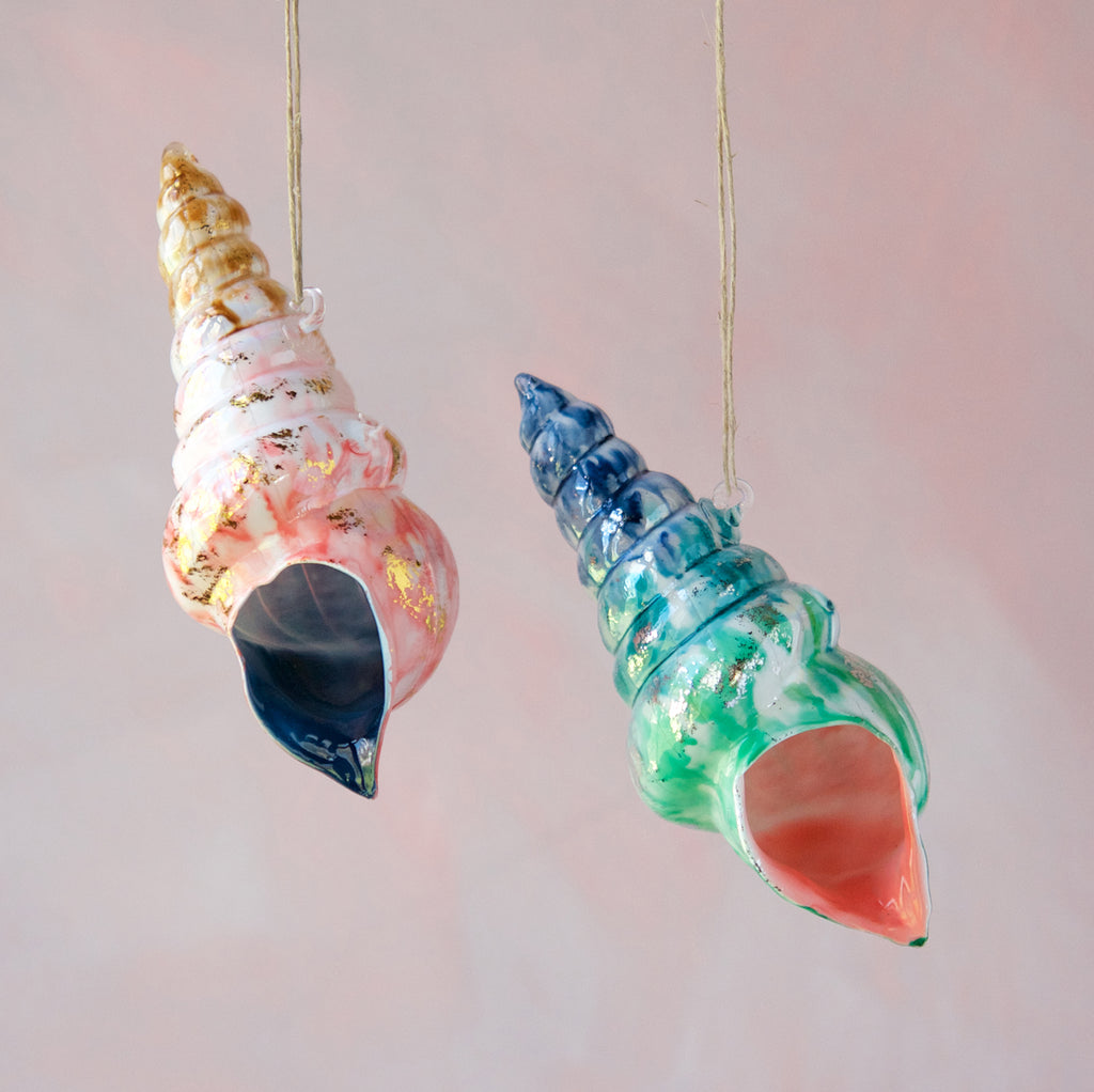 Marbled Shell Ornament (2 Assortment)