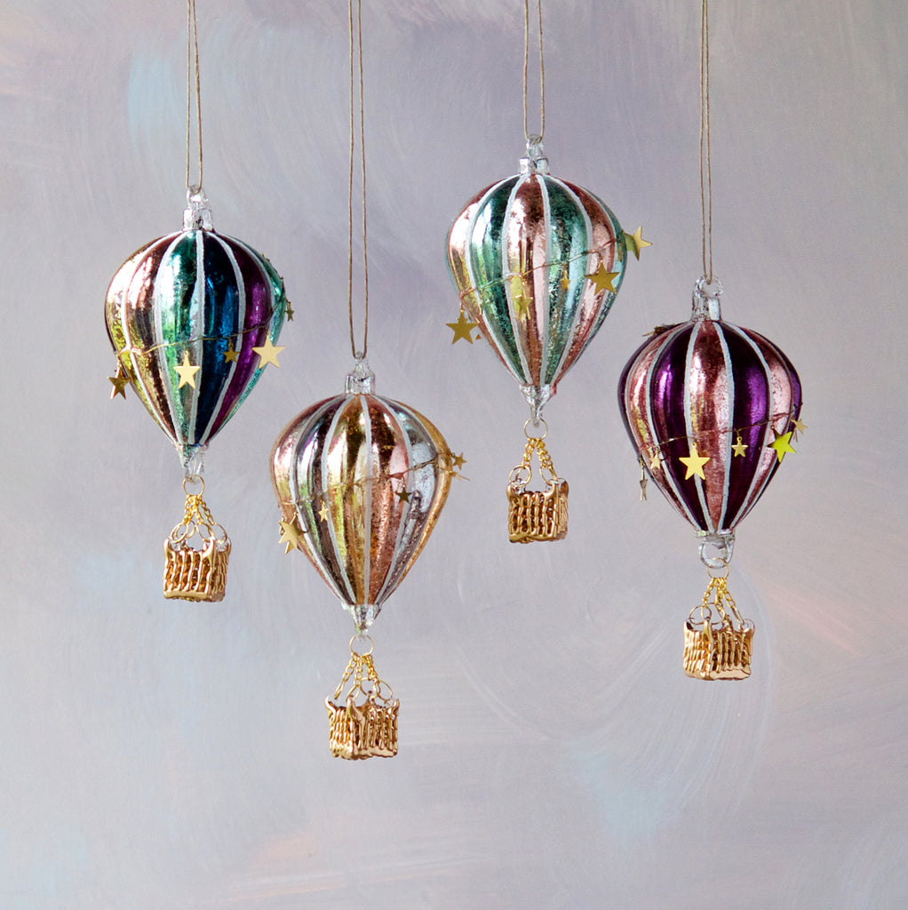 Star Hot Air Balloon Ornament (4 Assortment)