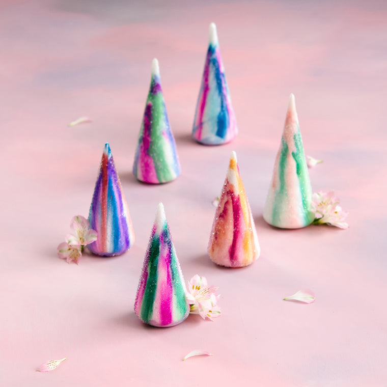 Water Color Cone Trees