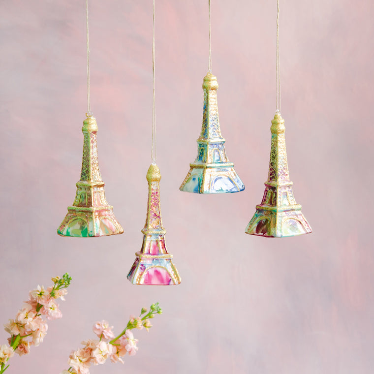 Water Color Eiffel Tower Ornament