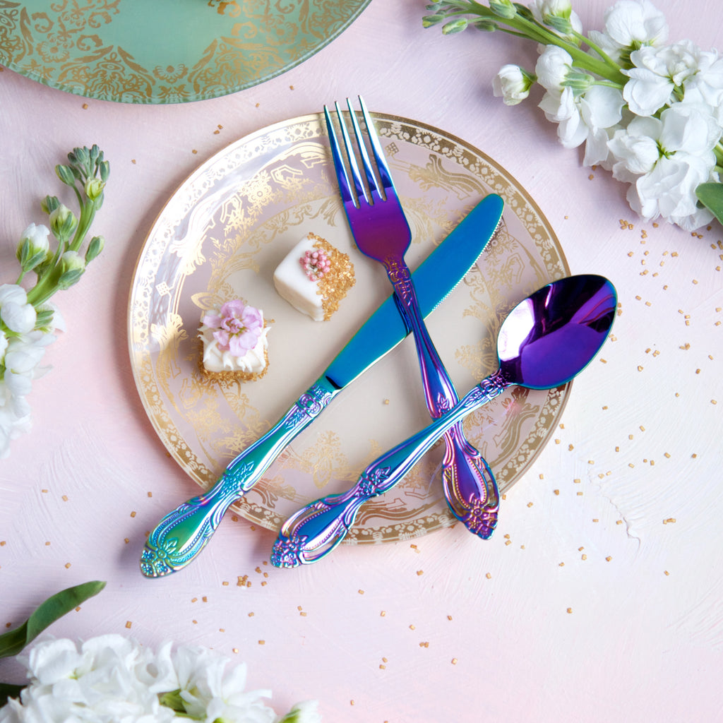 Rainbow Flatware, Set of 3