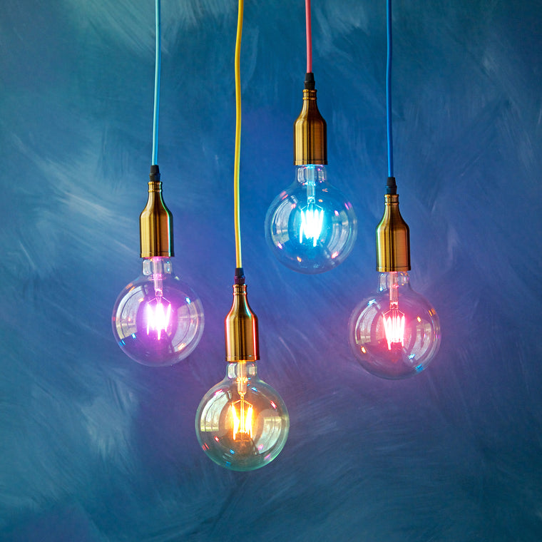 Colorful LED Filament Ball Bulb