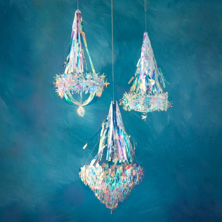 Small Iridescent Chandelier (3 Assortment)