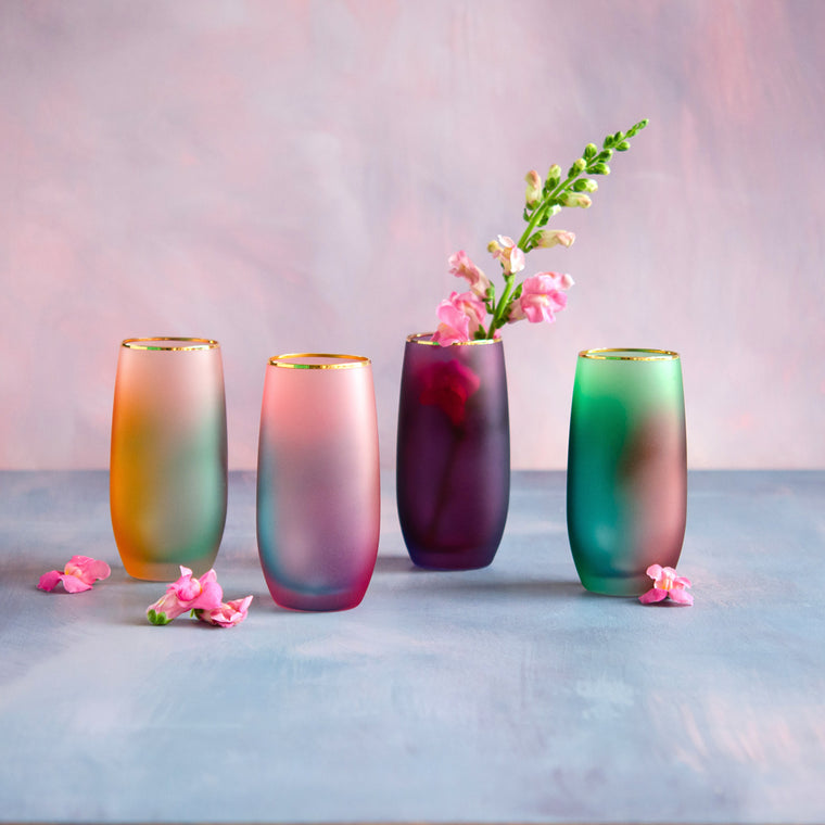 Frosted Rainbow Tumbler