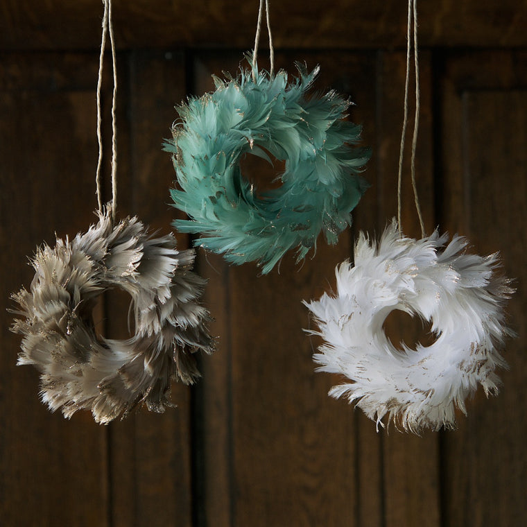 Feather Wreath Ornament