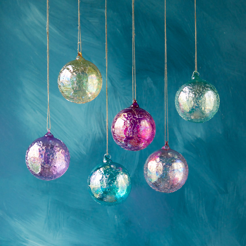 Ripple Iridescent Ball Ornament