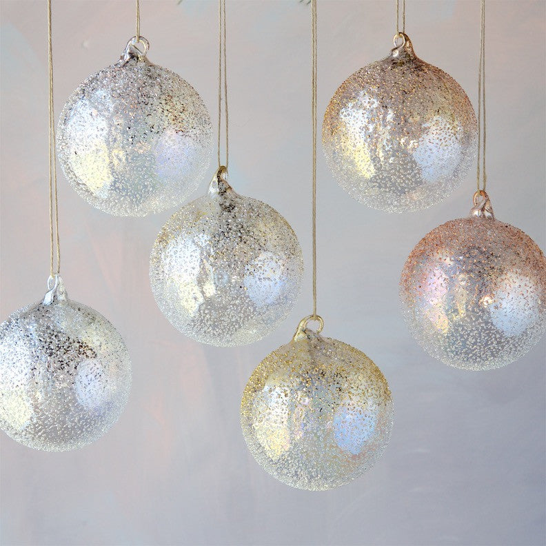 Leaf Glass Speckle Ornament