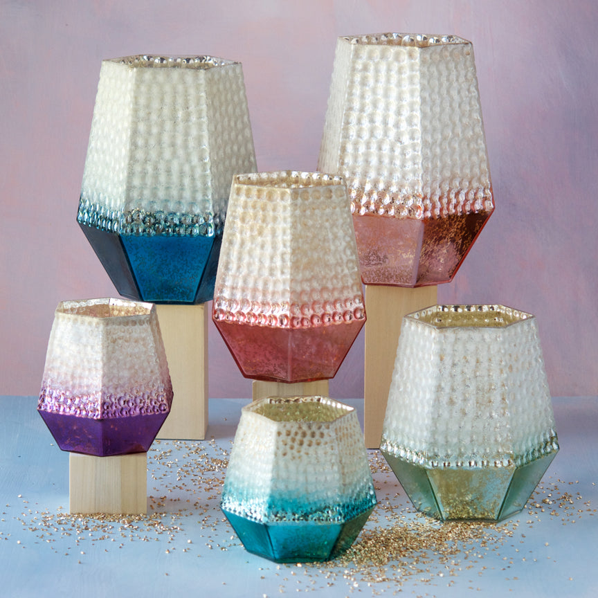 Dimpled Candle Holders