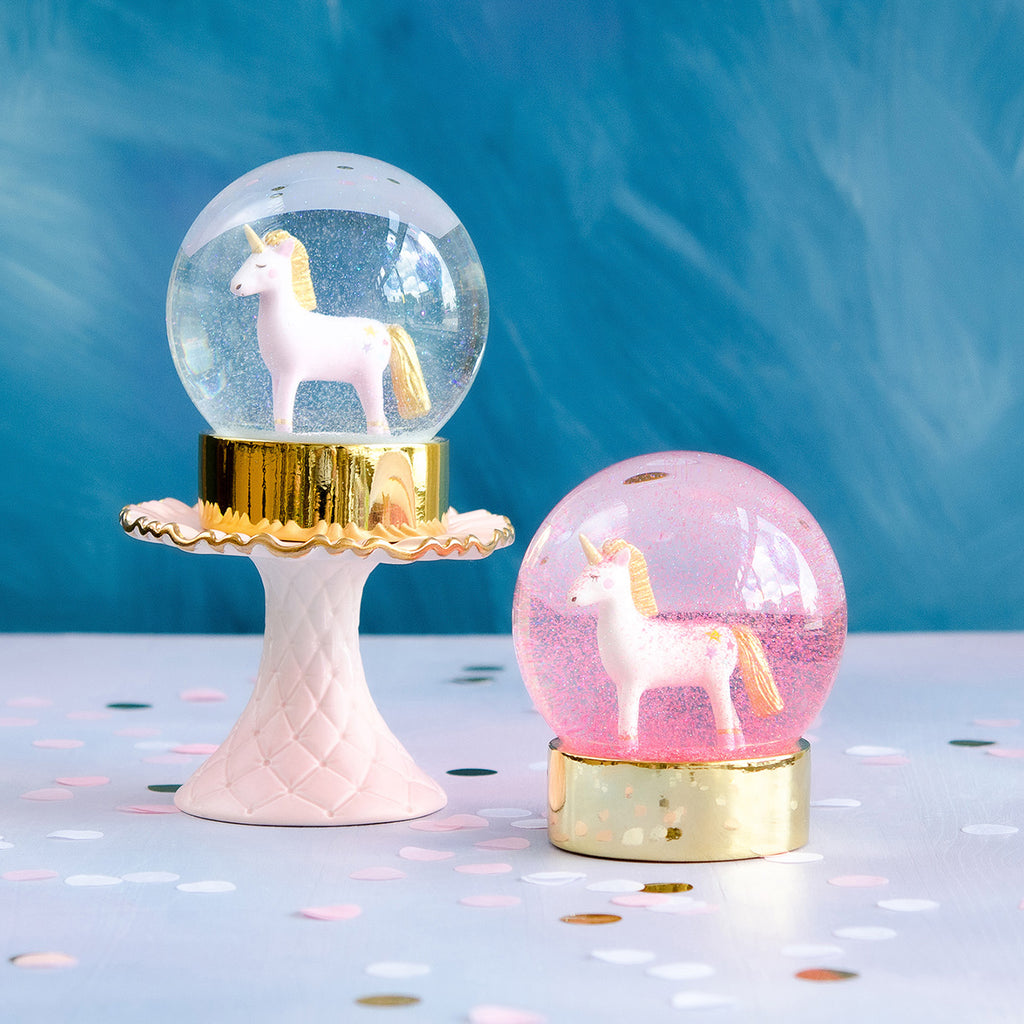 Sparkling Unicorn Water Globe