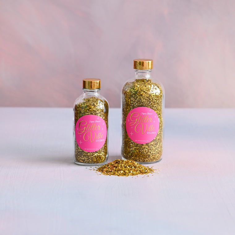 Gaudy Gold Glass Glitter