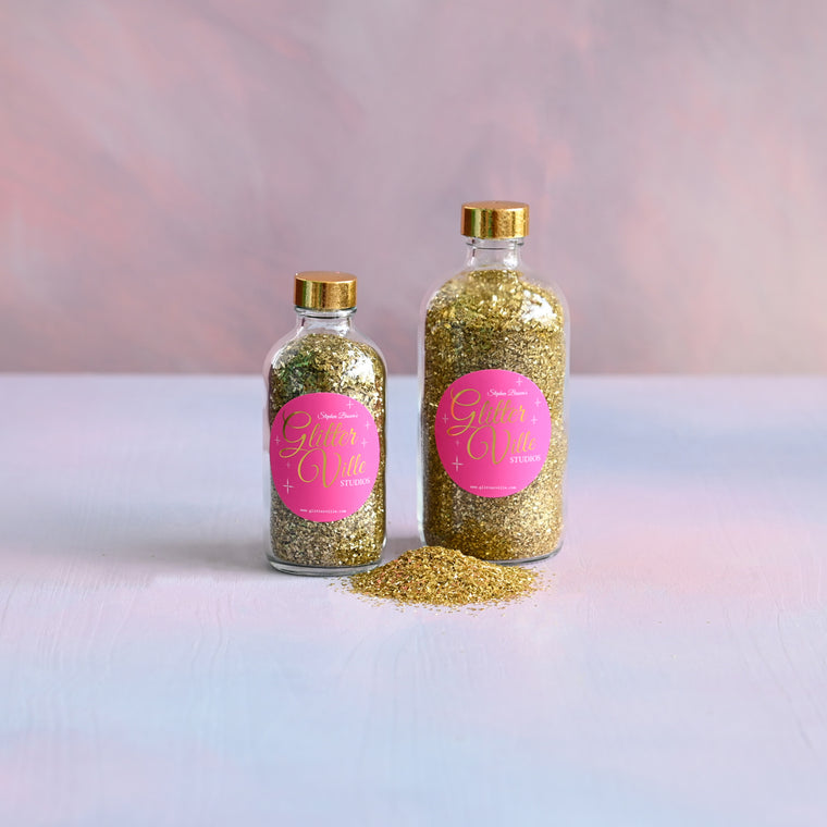 Fairy Godmother Gold Glass Glitter