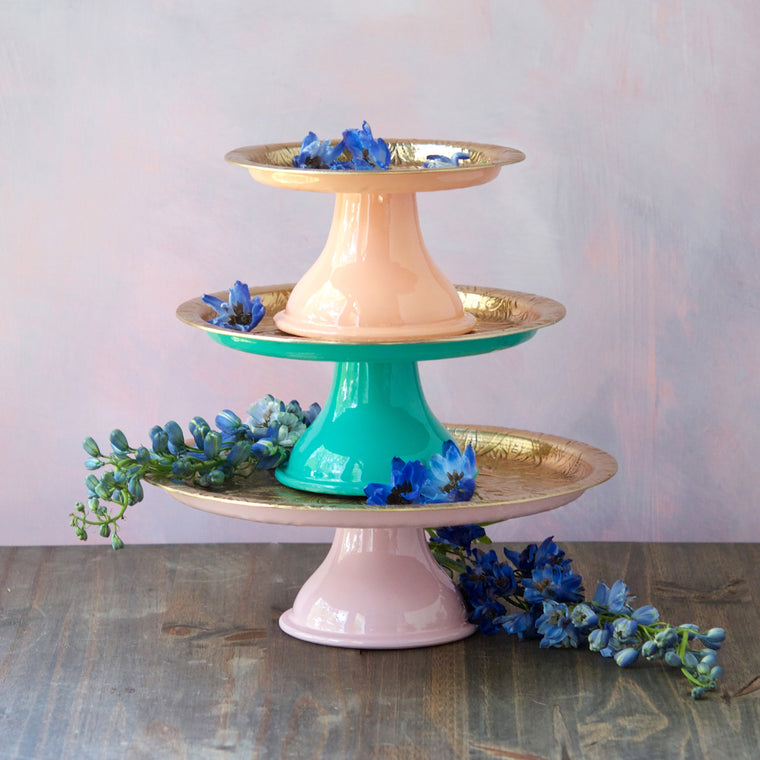 Metallic Pastel Stand, Set of 3