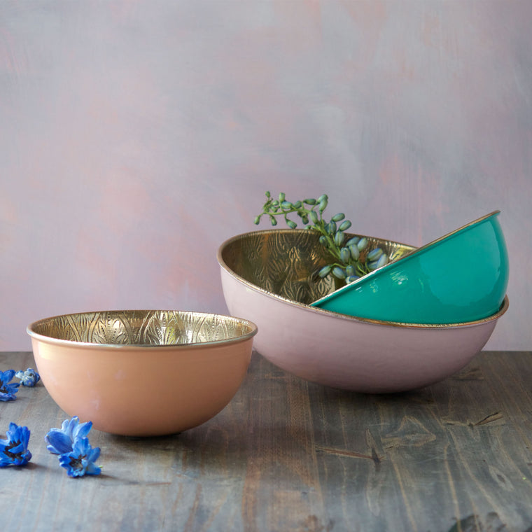 Metallic Pastel Bowl, Set of 3
