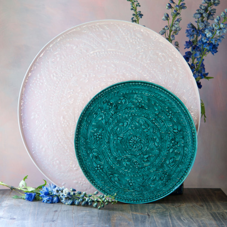 Metallic Pastel Platter, Set of 2