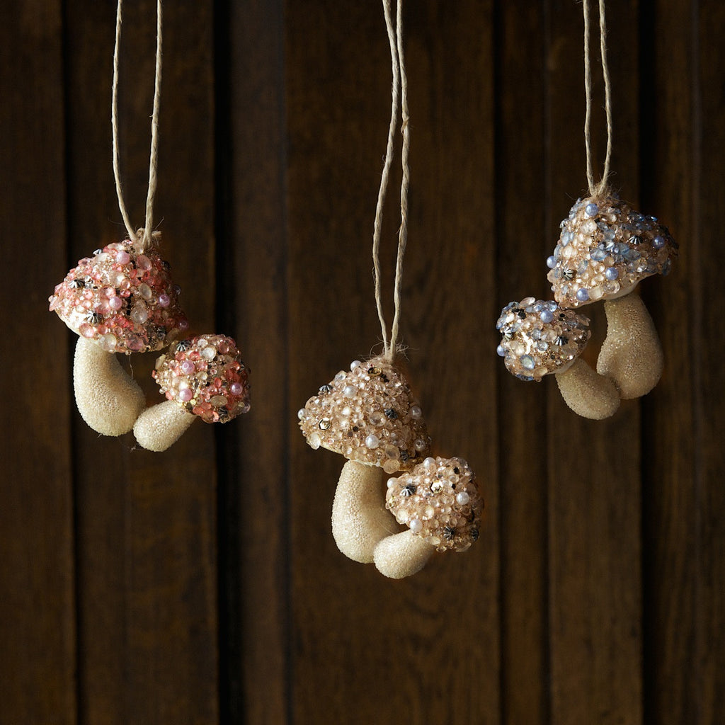 Jeweled Mushroom Ornaments