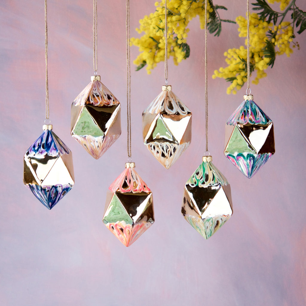Marbled Geometric Ornament