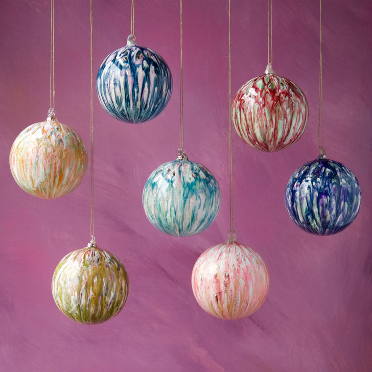 Large Marbled Ornament (7 Assortment)