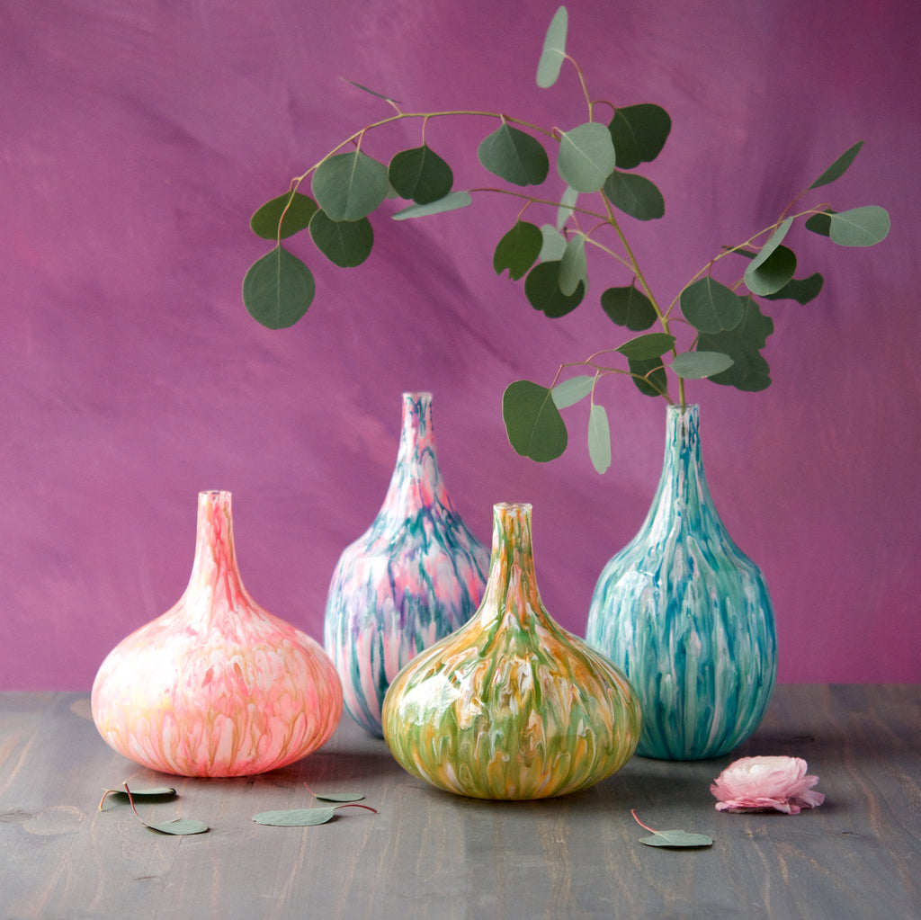 Marbled Vase (4 Assortment)