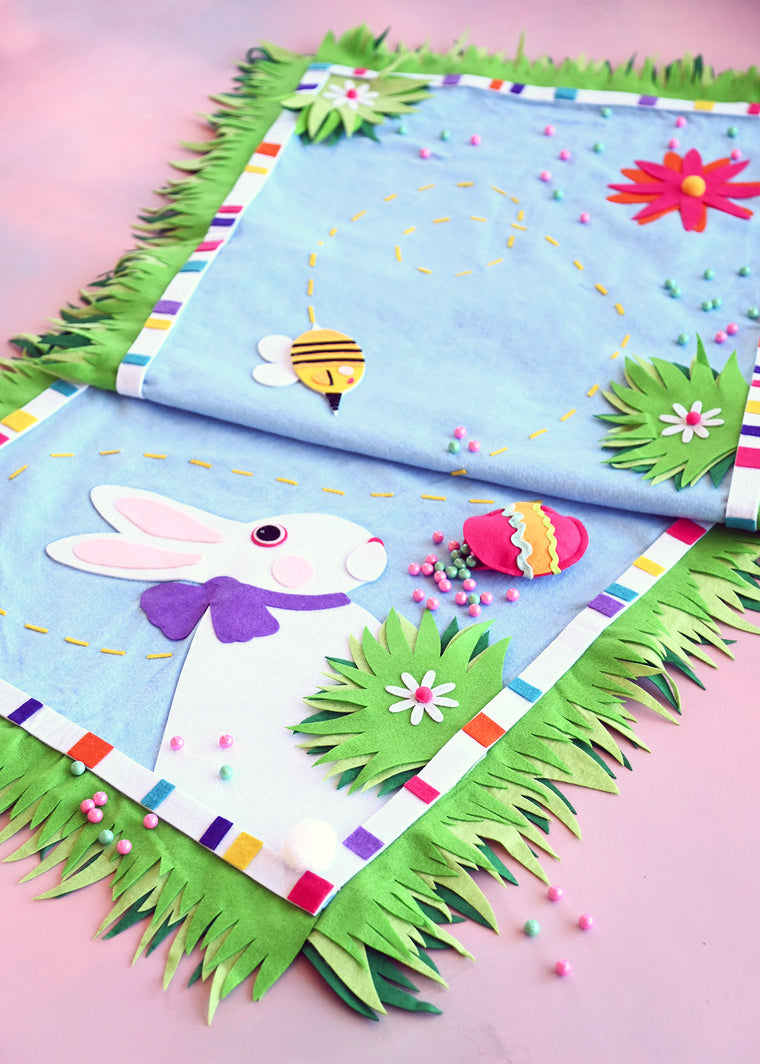 BEE-autiful Bunny Tablerunner