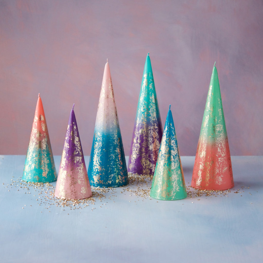 Ombre Cone Candles, Set of 6