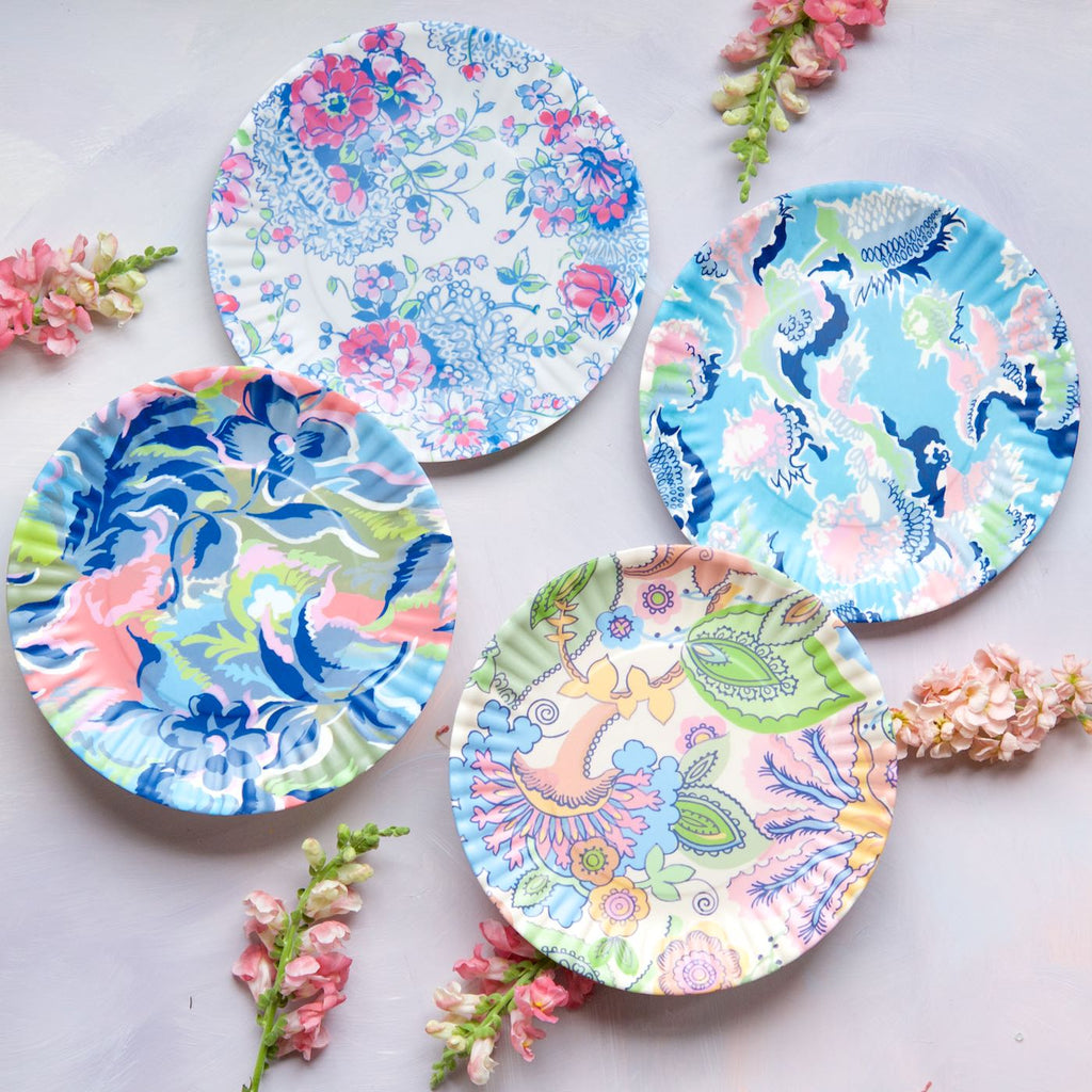 Paris Flea Market Plates, Large, Set of 4