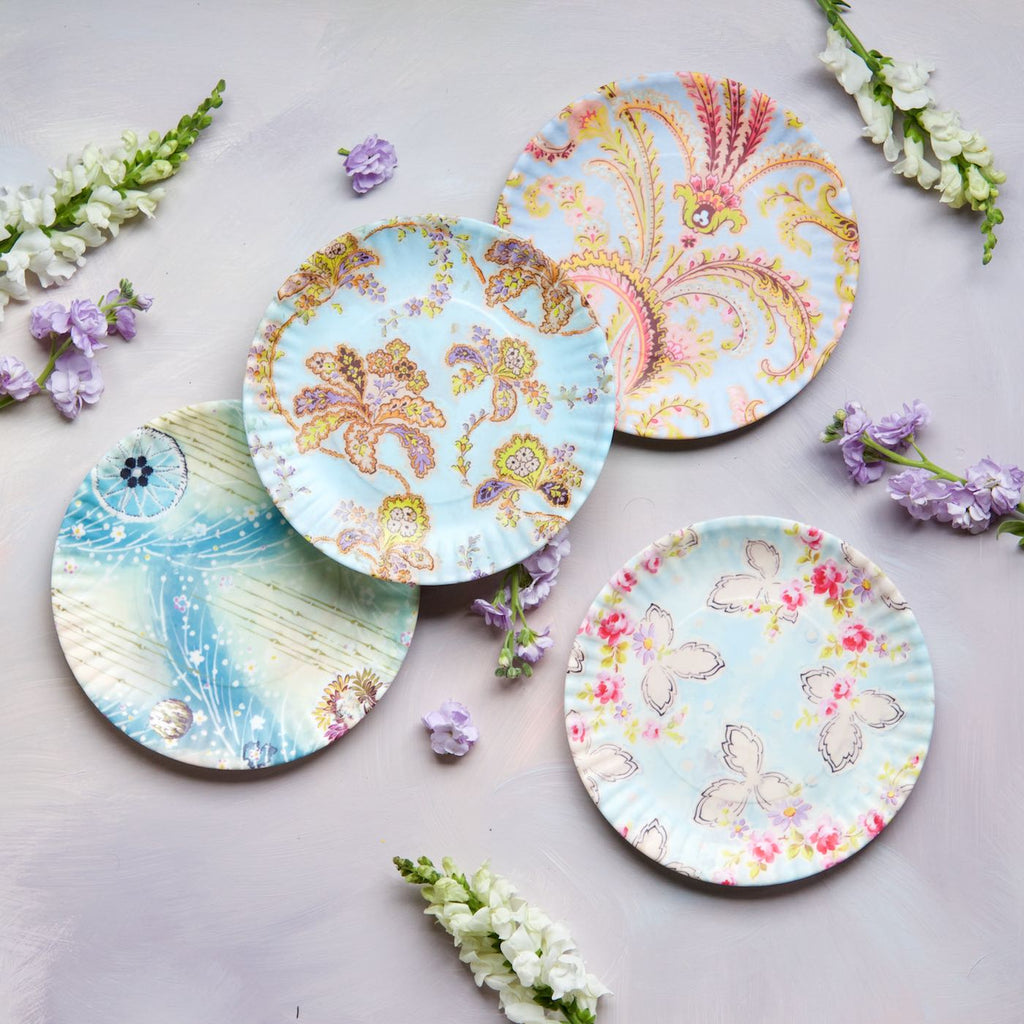 Paris Flea Market Plates, Medium, Set of 4