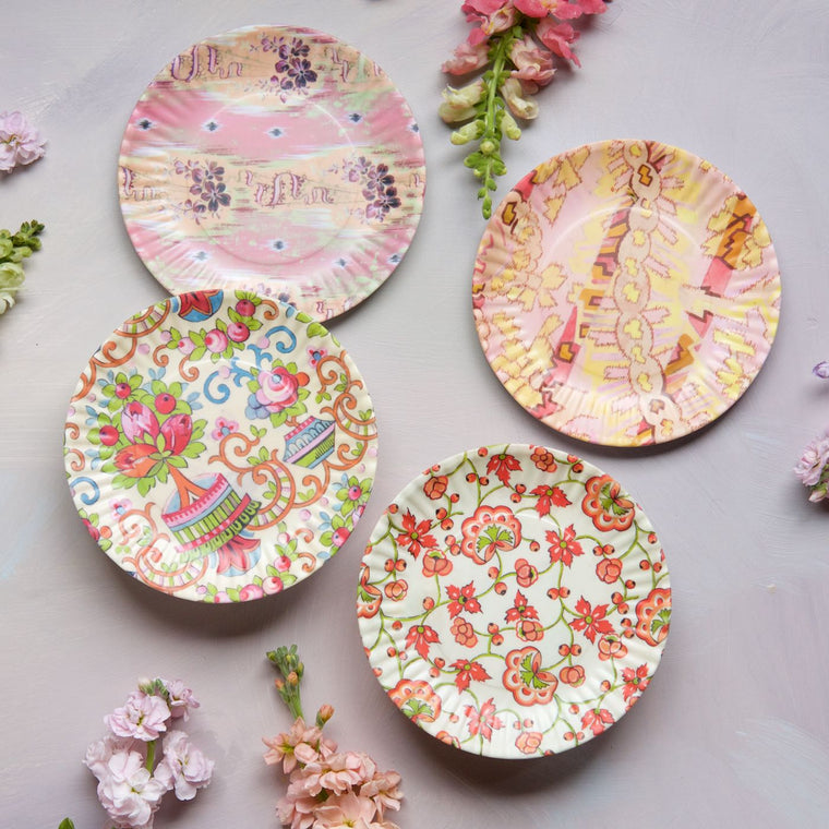 Paris Flea Market Plates, Small, Set of 4