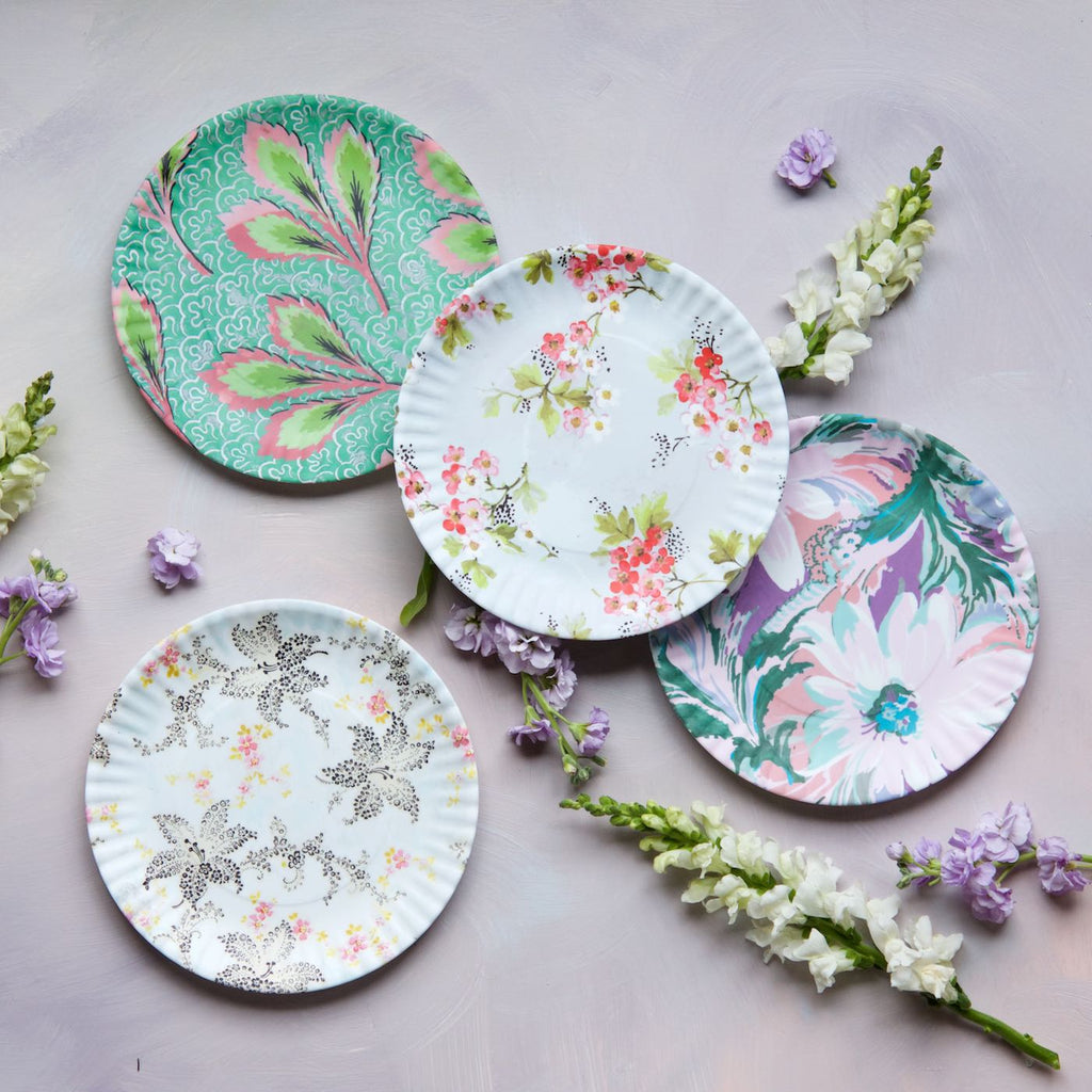 French Flea Market Plates, Medium, Set of 4