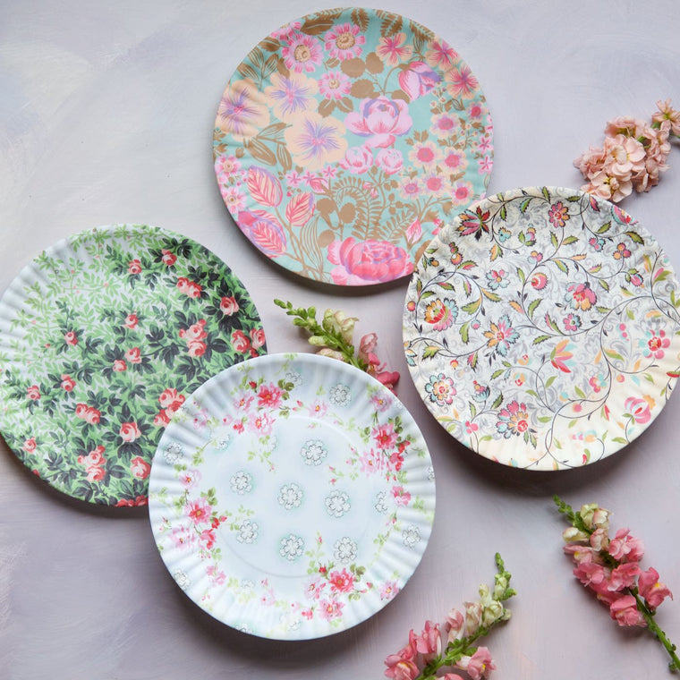 French Flea Market Plates, Large, Set of 4