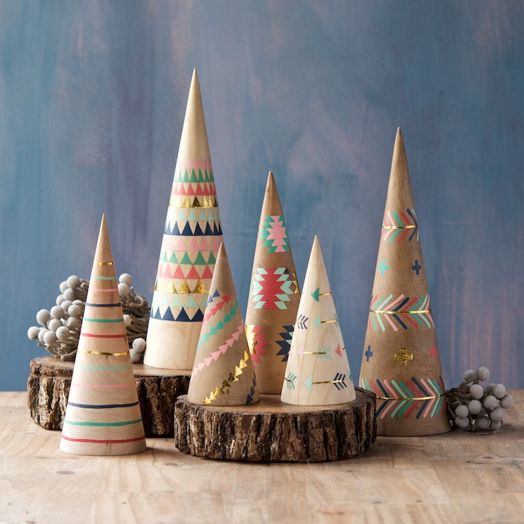 Adirondack Cone Trees, Set of 6
