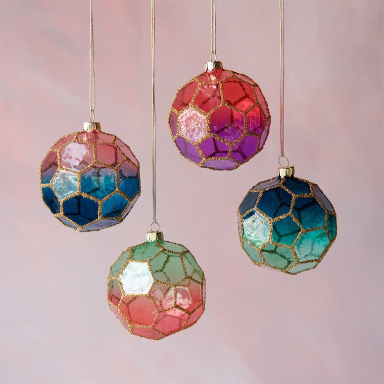 Faceted Ombre Ball Ornament