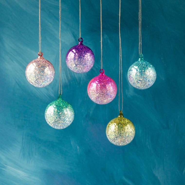 Glitter Ombre Ball Ornament