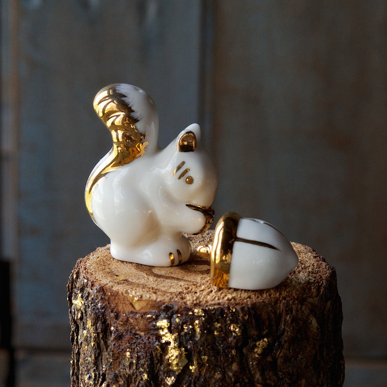 Squirrel and Acorn Salt & Pepper