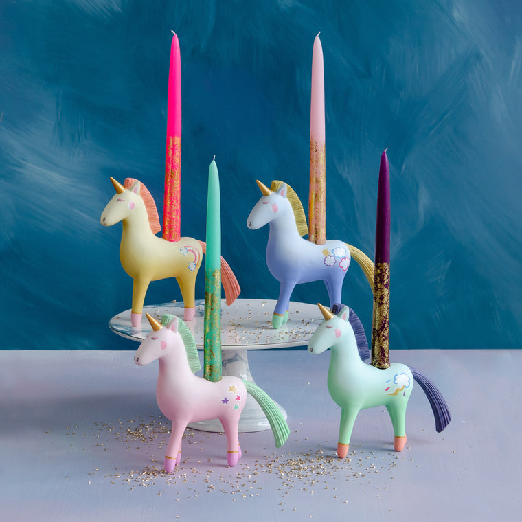 Unicorn Taper Candle Holder