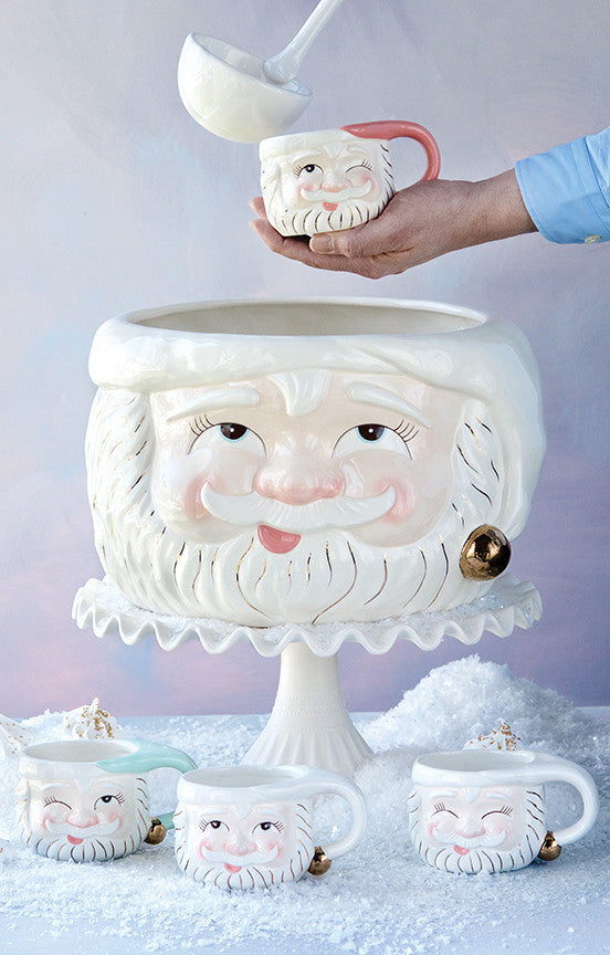 Papa Noel Punch Bowl & Mugs