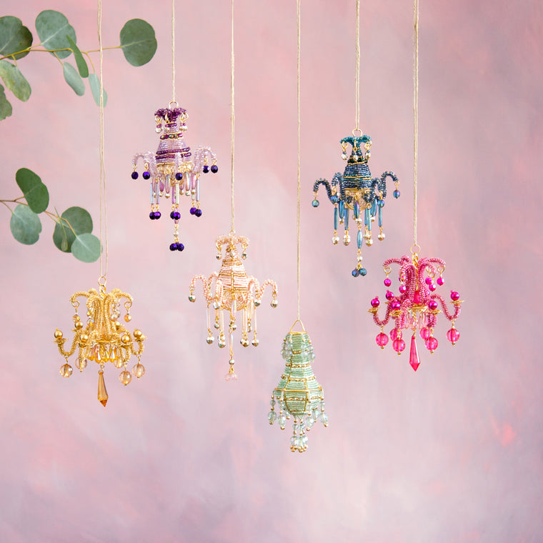 Beaded Chandelier Ornament