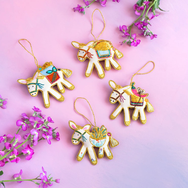 Beady & Embellished Burro & Friends Ornament