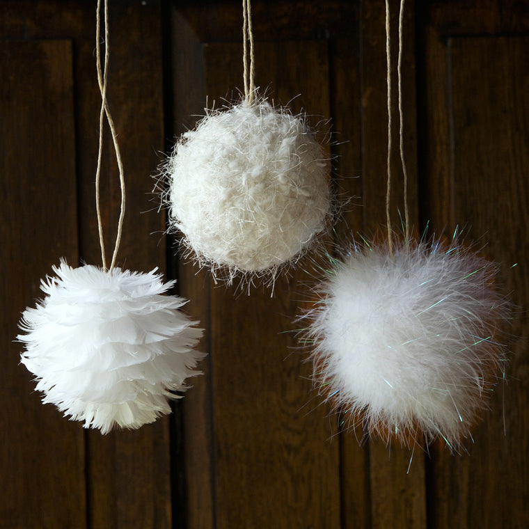 Fluffy Ball Ornament