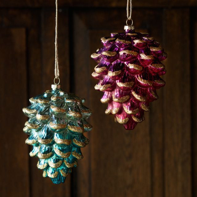 Ombre Glass Pinecone Ornament