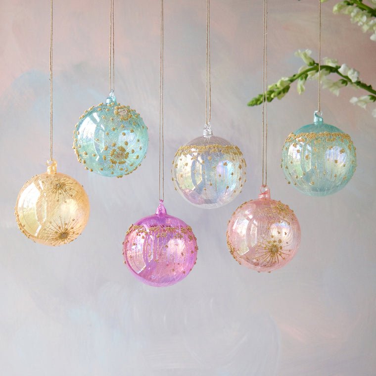 Iris Ball Ornament