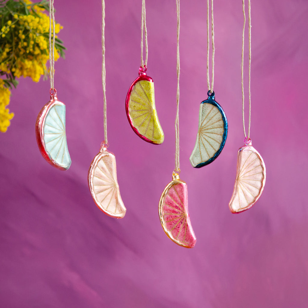 Flurry of Fruit Slices Ornament