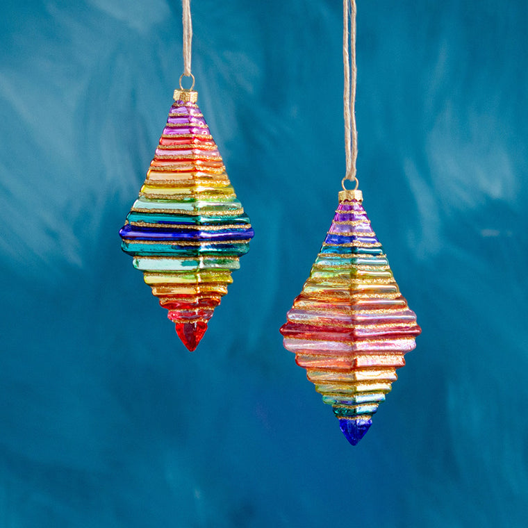 Rainbow Finial Ornament