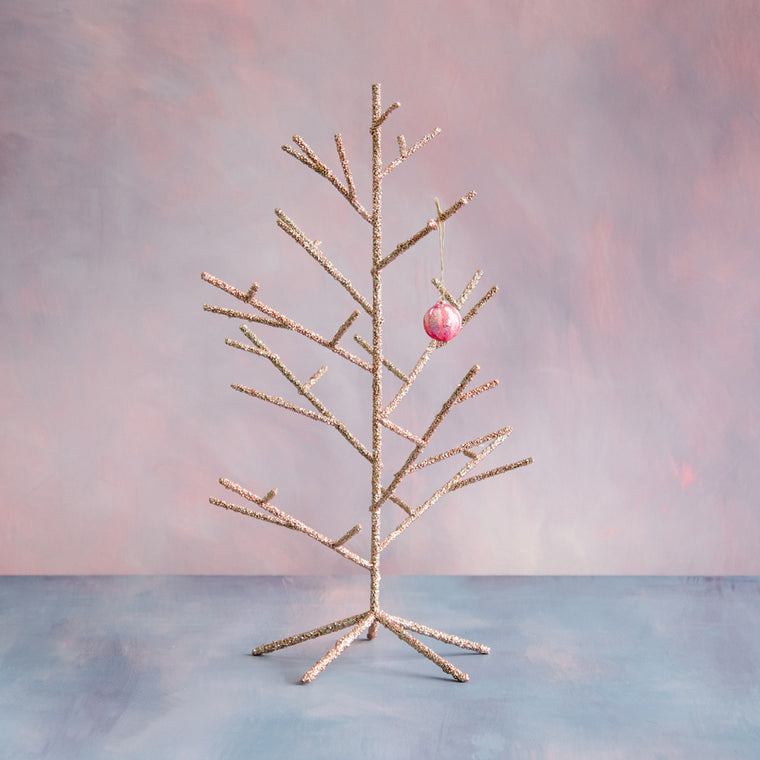 Small Pink Twinkle Twig Tree