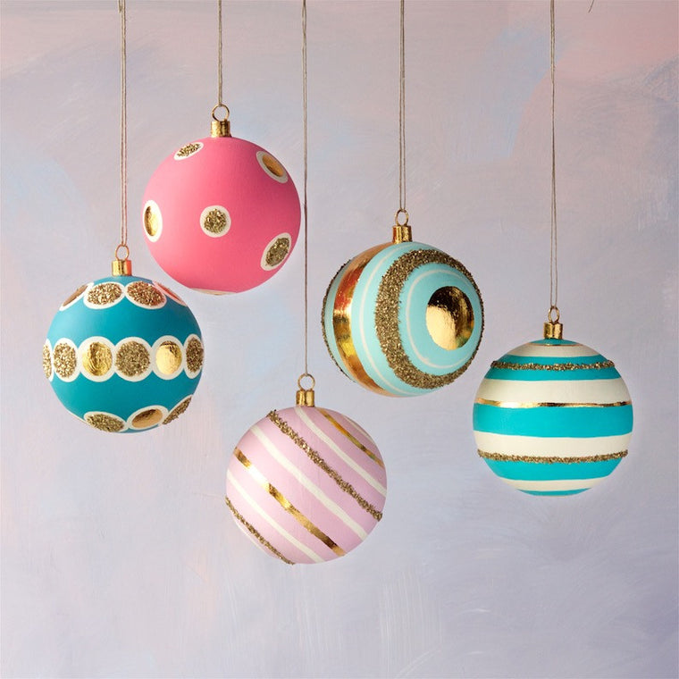 Patterned Ball Ornaments