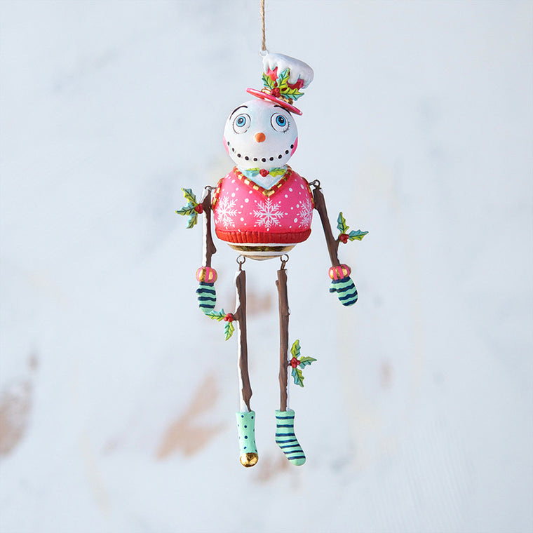 Holly Jolly Snowman Ornament