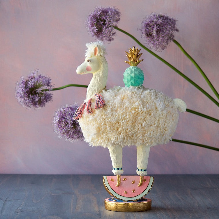 Cream Lala the Llama