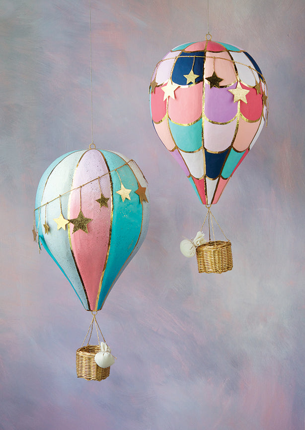 Hot Air Balloon, Set of 2