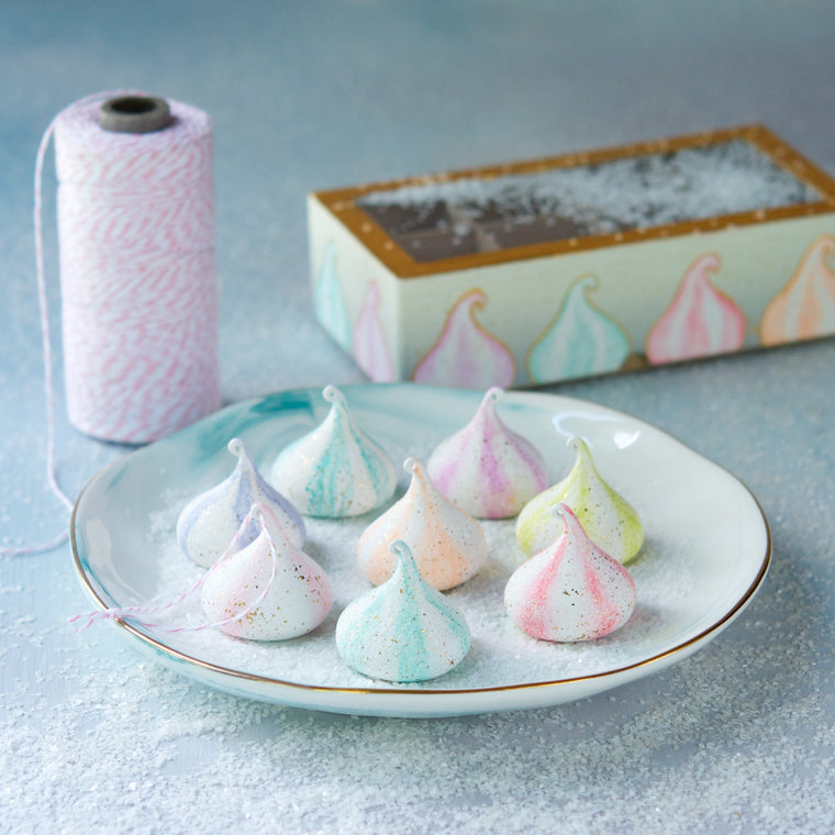 Meringue Ornament Gift Box, Set of 8