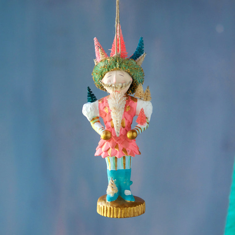 Snow Nutcracker Ornament